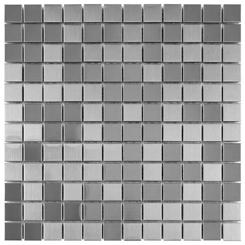 "Picture of Alloy Sq 11-7/8""x11-7/8"" Stainless Steel/Porcelain Mos"