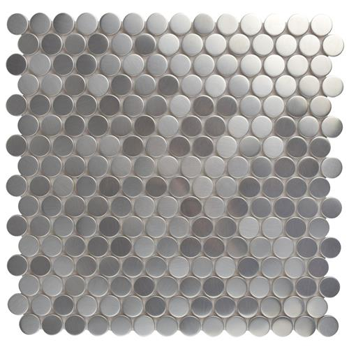 "Picture of Meta Penny Rd 11-3/4""x11-3/4"" Stainless Steel/Ceramic Mos"