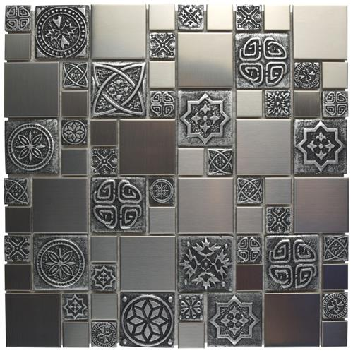 "Picture of Meta Versailles 11-3/4""x11-3/4"" Stainless Steel/Cer Mos"