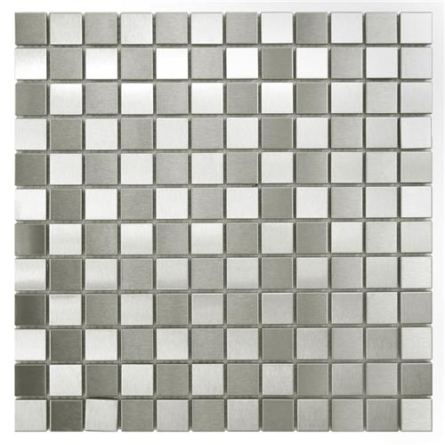 "Picture of Alloy Sq Checkerboard 12""x12"" Stainless Steel/Porcelain Mos"