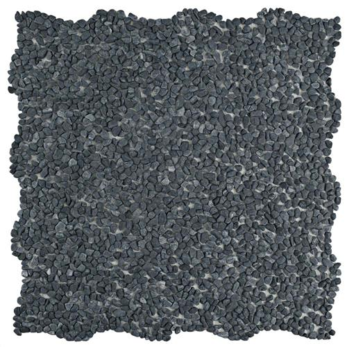"Picture of Pebblini Mini 711 Graphite 12-1/4""x12-1/4"" Pebble Stone Mos"