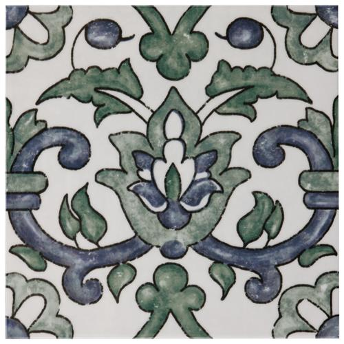 "Picture of Bourges Gaia 7-7/8""x7-7/8"" Ceramic W Tile"