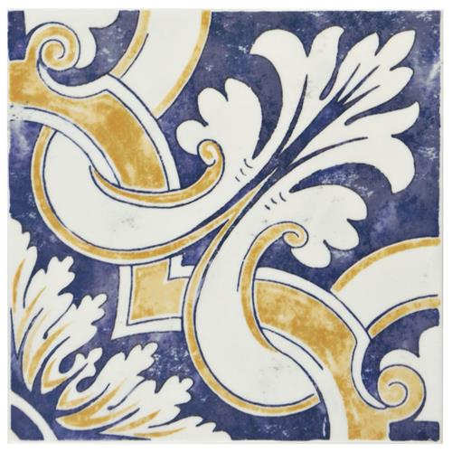 "Picture of Bourges Mondo 7-7/8""x7-7/8"" Ceramic W Tile"