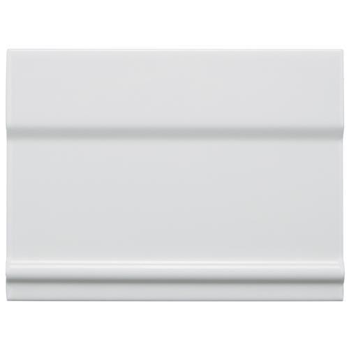 "Picture of Santorini Blanco 6""x8"" Zocalo Structural Base Ceramic W Trim"