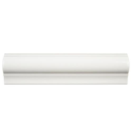 "Picture of Antigua Blanco 2""x8"" Ceramic Moldura W Trim"