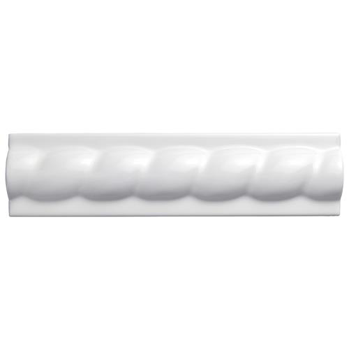 "Picture of Trenza Grand Blanco Moldura 2""x7-7/8"" Cer Rope W Trim"