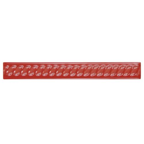 "Picture of Trenza Roja Moldura 1""x7-7/8"" Ceramic Rope Pencil W Trim"
