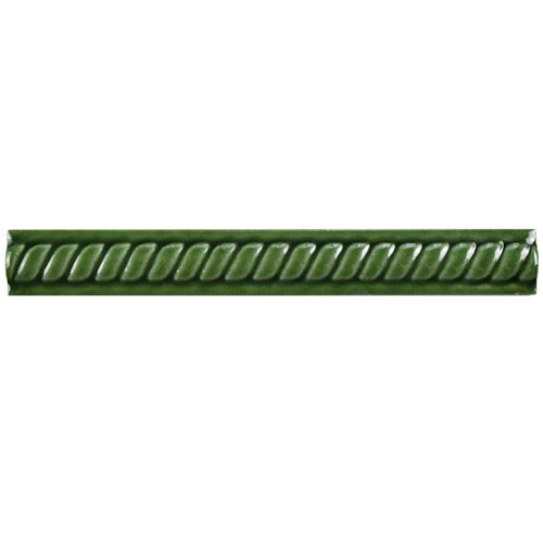 "Picture of Trenza Verde Moldura 1""x7-7/8"" Ceramic Rope Pencil W Trim"