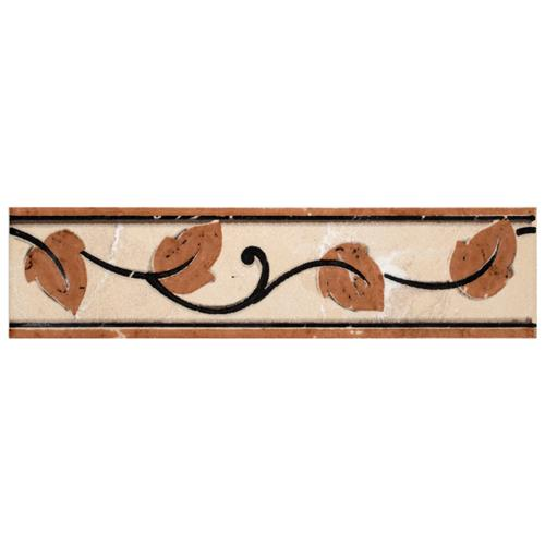 "Picture of Aroas Listello Arena 2""x8"" Ceramic W Trim"