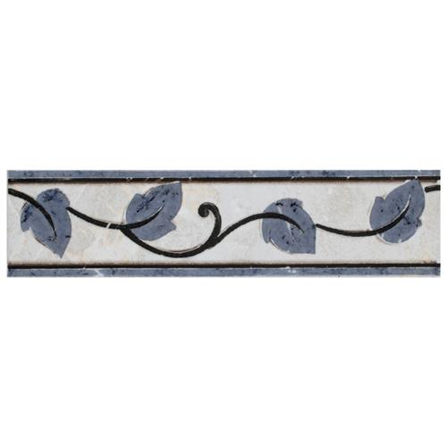 "Picture of Aroas Listello Gris 2""x8"" Ceramic W Trim"