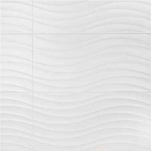"Picture of Silueta Blanco Matte 12-3/8""x24-7/8"" Ceramic W Tile"