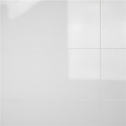 "Picture of Solido Blanco Brillo 12-3/8""x24-7/8"" Ceramic W Tile"