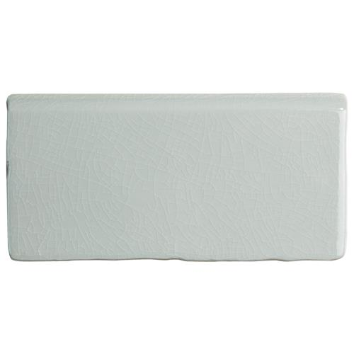 "Picture of Antic Craquelle Gris Soho Bullnose 3""x6"" Ceramic W Tile Trim"