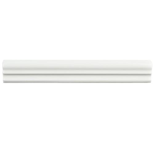 "Picture of Blanco Brillo Zen 1-1/4""x7-7/8"" Ceramic Moldura W Trim"