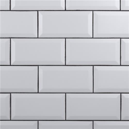 "Picture of Crown Heights Beveled Matte White 3""x6"" Ceramic W Tile"