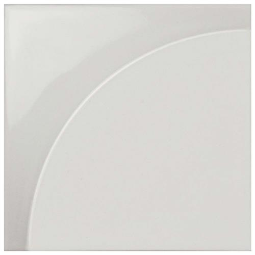 "Picture of Magical 3D Curve Glossy White 5-7/8""x5-7/8"" Ceramic W Tile"