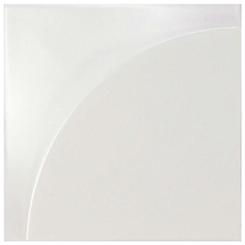 "Picture of Magical 3D Curve Matte White 5-7/8""x5-7/8"" Ceramic W Tile"