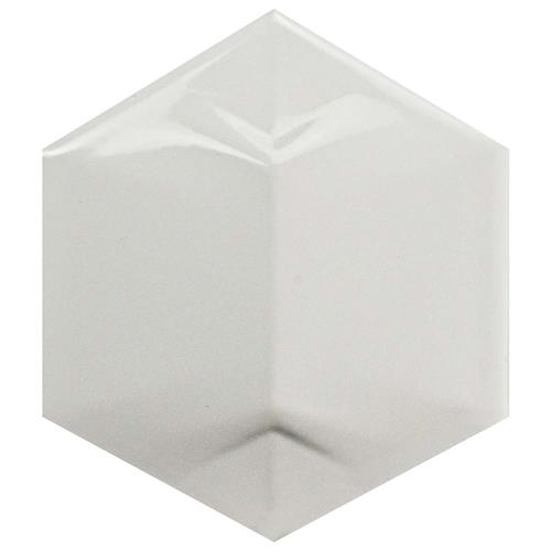 "Picture of Magical 3D Star Glossy White 4-1/4""x4-7/8"" Ceramic W Tile"