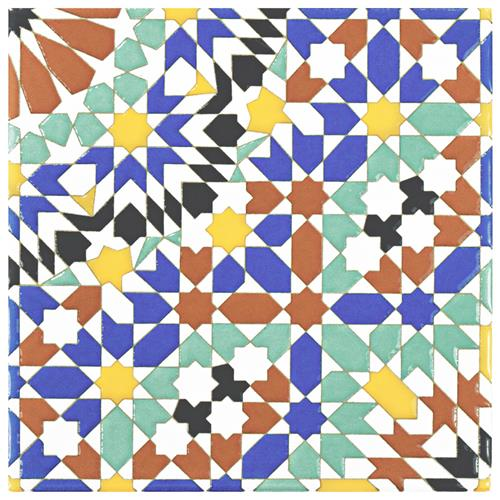 "Picture of Sevillano Andalusia 7-7/8""x7-7/8"" Ceramic W Tile"
