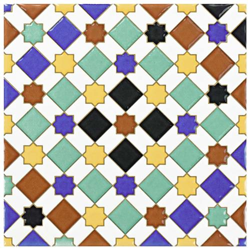 "Picture of Sevillano Giralda 7-7/8""x7-7/8"" Ceramic W Tile"