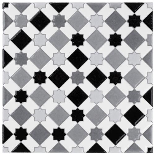 "Picture of Sevillano Giralda Light Grey 7-7/8""x7-7/8"" Ceramic Wall Tile"