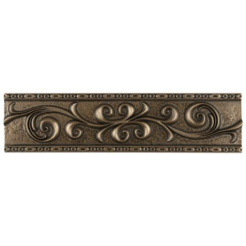 "Picture of Contempo Bronze ScrollLiner1303 3""x12"" Mixed Material W Trim"