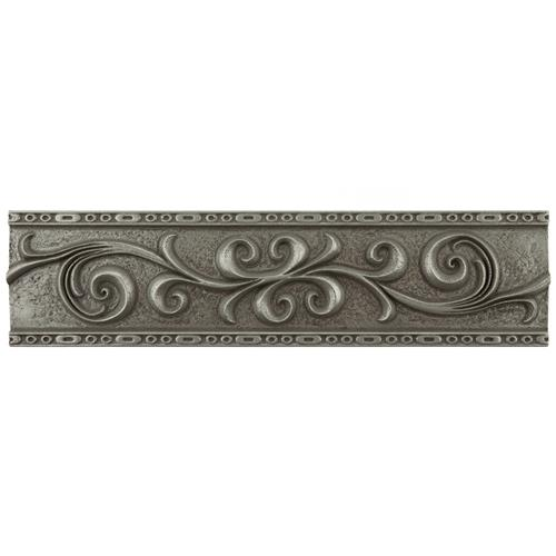 "Picture of Contempo Pewter ScrollLiner1303 3""x12"" Mixed Material W Trim"