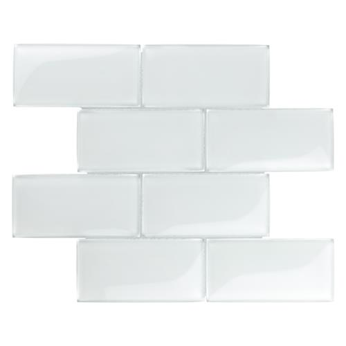 "Picture of Igloo Convex Subway Ice White 11-5/8""x11-7/8"" Glass Mos"