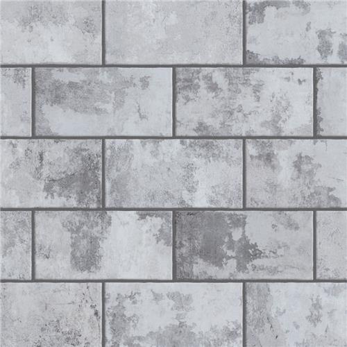 "Picture of Biarritz Grey 3""x6"" Ceramic Wall Subway Tile"