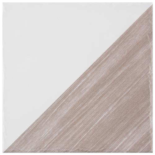 "Picture of Triangle Rustique Glossy Taupe 6"" x 6"" Ceramic Wall Tile"