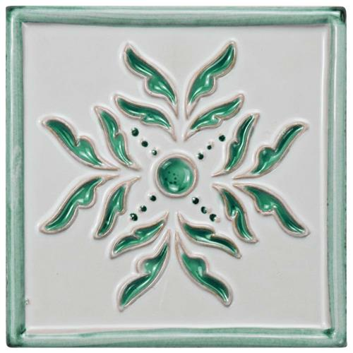 "Picture of Novecento Taco Evoli Aguamarina 5-1/4""x5-1/4"" Ceramic W Tile"