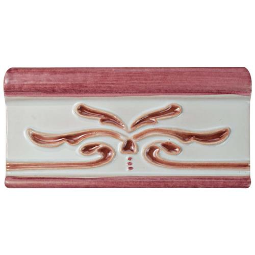 "Picture of Novecento Cenefa Evoli Burdeos 2-5/8""x5-1/8"" Ceramic W Trim"