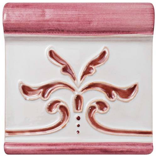 "Picture of Novecento Friso Evoli Burdeos 5-1/4""x5-1/4"" Ceramic W Trim"