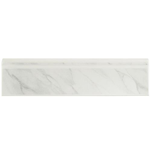 "Picture of Battiscopa Satin Wht Marble R-21 3-1/4""x12-3/8"" Cer W Trim"