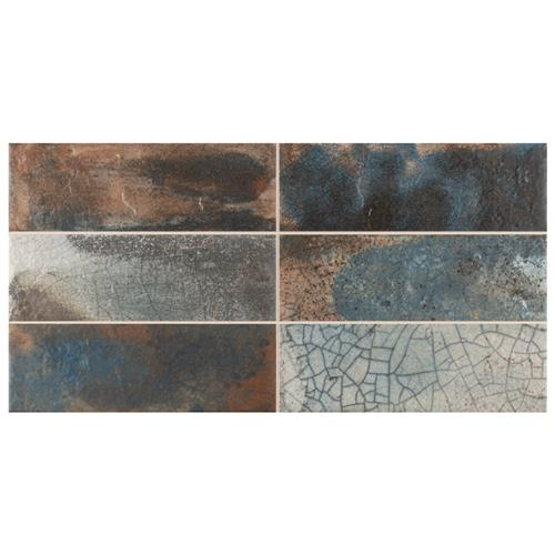"Picture of Kings Raku Colors 15-3/4""x7-7/8"" Ceramic Wall Tile"