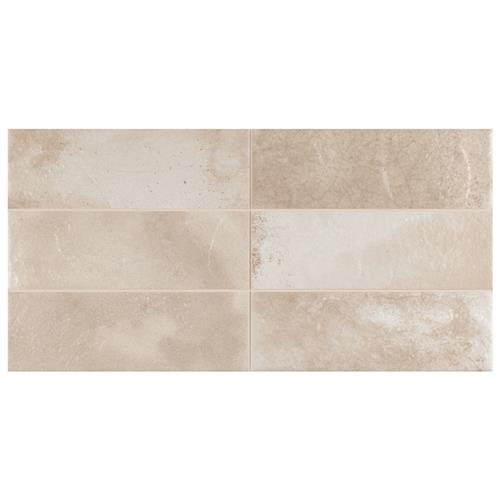 "Picture of Kings Raku Cream 15-3/4""x7-7/8"" Ceramic Wall Tile"