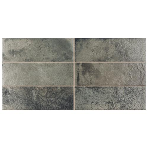 "Picture of Kings Raku Sage 15-3/4""x7-7/8"" Ceramic Wall Tile"