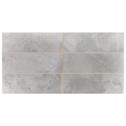 "Picture of Kings Raku Silver 15-3/4""x7-7/8"" Ceramic Wall Tile"
