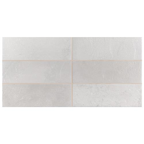 "Picture of Kings Raku White 15-3/4""x7-7/8"" Ceramic Wall Tile"