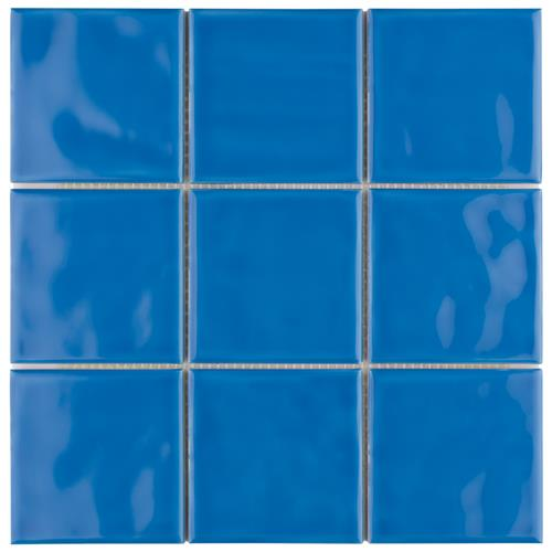 "Picture of Twist Square Blue Sky 3-7/8""x3-7/8"" Ceramic W Tile"