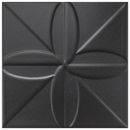 "Picture of Triplex Fronteira Black 7-3/4""x7-3/4"" Ceramic W Tile"