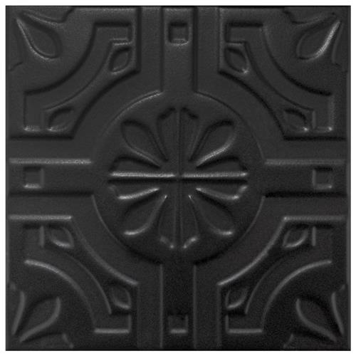 "Picture of Triplex Real Black 7-3/4""x7-3/4"" Ceramic W Tile"