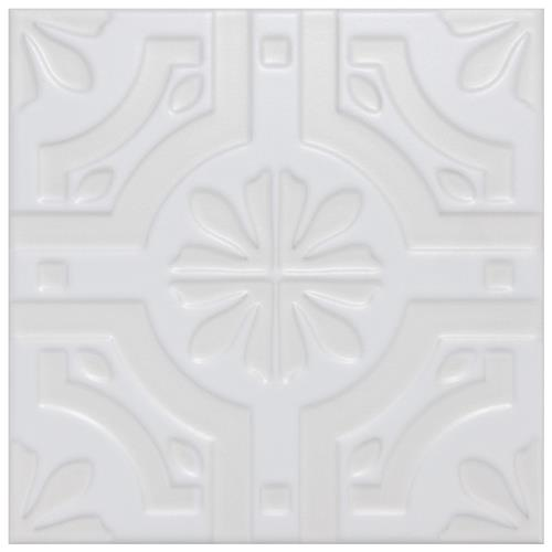 "Picture of Triplex Real White 7-3/4""x7-3/4"" Ceramic Wall Tile"