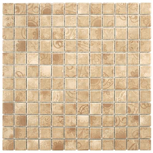 "Picture of Laceo Beige 11-5/8""x11-5/8"" Porcelain Mos"
