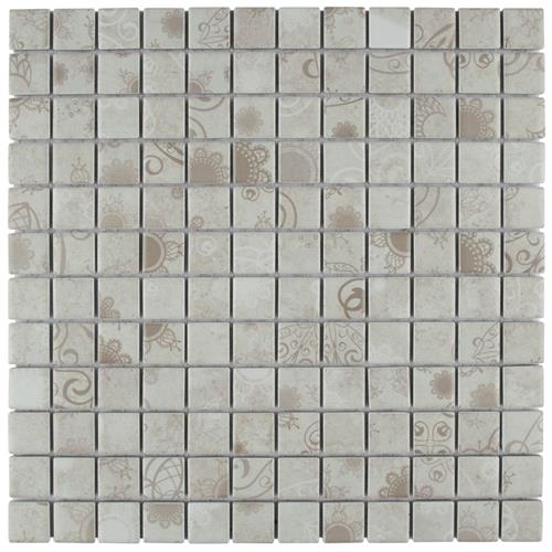 "Picture of Laceo Grey 11-5/8""x11-5/8"" Porcelain Mos"