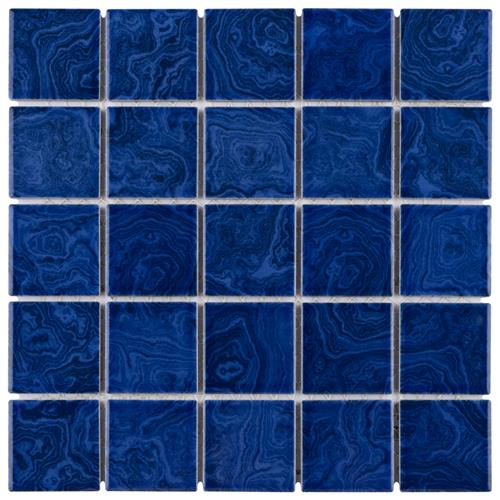 "Picture of Resort Marine Blue 12""x12"" Porcelain Mos"