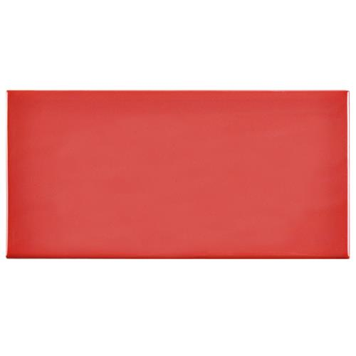"Picture of Park Slope Subway Glossy Apple Red 3""x6"" Ceramic W Tile"