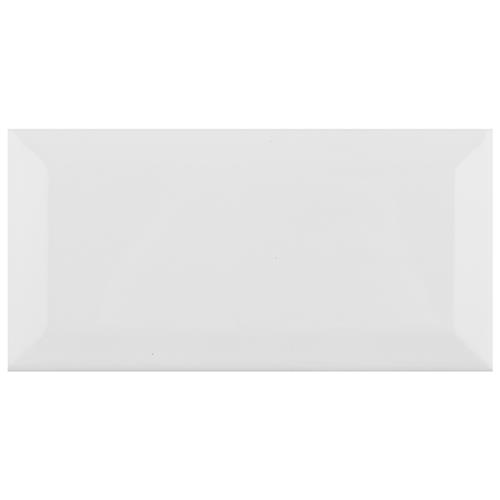 "Picture of Park Slope Subway Beveled Glossy White 3""x6"" Ceramic W Tile"