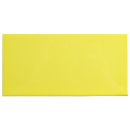 "Picture of Park Slope Subway Canary Yellow 3""x6"" Ceramic W Tile"