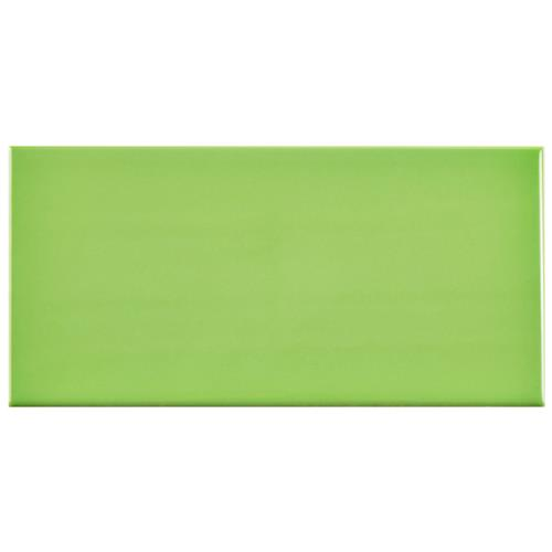 "Picture of Park Slope Subway Glossy Kiwi Green 3""x6"" Ceramic W Tile"